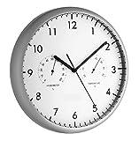 TFA 98.1072 - Reloj de pared electr�nico con term�metro e higr�metro, 265 mm