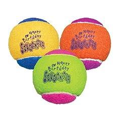 KONG Air Dog Squeakair Birthday Balls Dog Toy, Medium,...