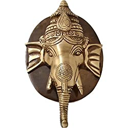 Brown Finish Door Knocker of Elephant