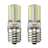KINGSO E17 4W Pure White 64 3014 SMD Appliance Silicone Crystal LED Lights Bulb Lamp, Low Power Consumption, 110-120v, Pack of 2 Units Pure White