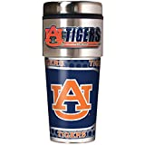 NCAA Auburn Tigers Metallic Travel Tumbler,  16-Ounce