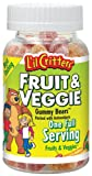 Lil Critters Fruit  Veggie Bears Dietary Supplement, Assorted Flavors, 60-Count Bottles (Pack of 4)