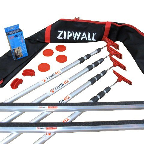 Zipwall 4-Pole Professional Dust Barrier Kit