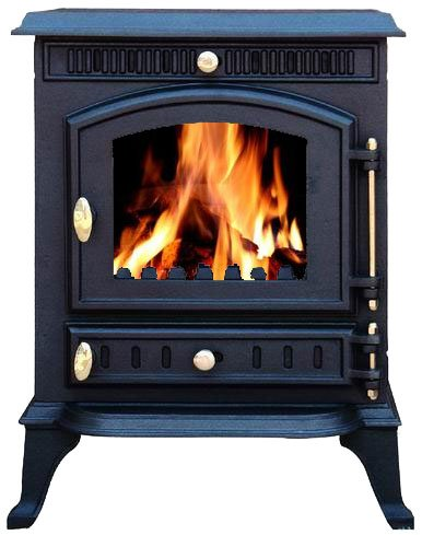 FoxHunter Cast Iron Log Wood Burner Stove JA010 7KW Multi Fuel Fire Place