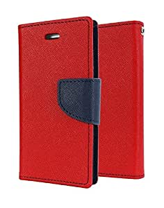 RJR Mercury Goospery Wallet Diary Style Flip Back Case Cover For For Samsung Galaxy Note 3 Neo N7505-Red