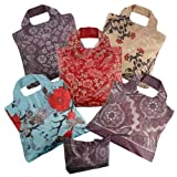 Omnisax Wanderlust Reusable Shopping Bags 5-pack