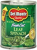 Del Monte Leaf Spinach, 7.75-Ounce (Pack of 12)