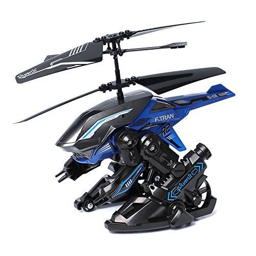 Silverlit - Heli TransBot, Elicottero trasformabile a 2 canali, telecomando a infrarossi, colori assortiti