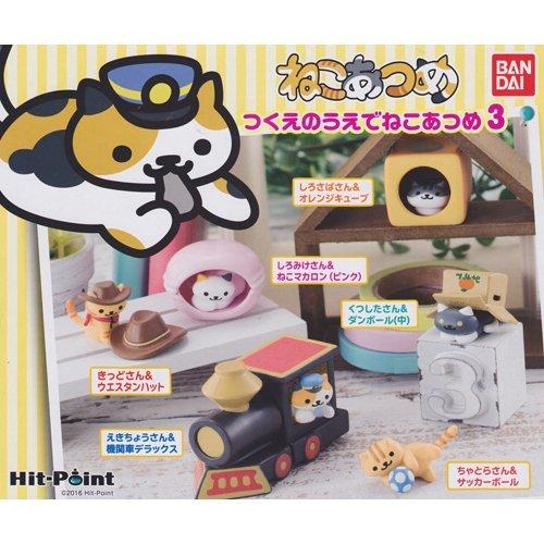ねこあつめ つくえのうえでねこあつめ3 猫 ネコ ゲーム キャラ フィギュア グッズ ガチャ バンダイ(全6種フルコンプセット)
