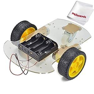 Robot intelligent voiture Encoder Châssis Kit Vitesse Battery Box Pour Arduino