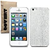 Terrapin PU Leather Back Case for iPhone 5S - Silver Snakeskin