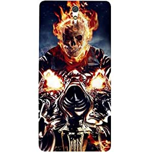 Casotec Ghost Rider Motorcycle Design Hard Back Case Cover for Sony Xperia C5 Ultra