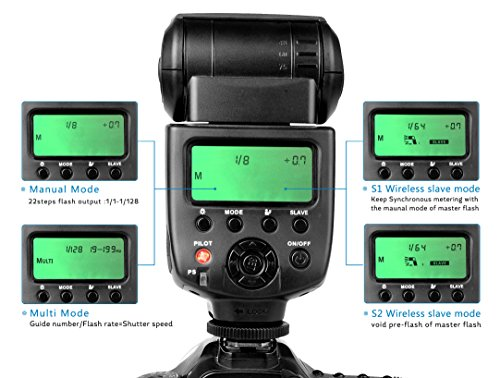 CameraPlus-CPM580-21-display-LCD-Speedlite-Flash-M-Multi-S1-S2-con-The-Hot-Shoe-standard-per-Canon-Nikon-Sony-Olympus-Panasonic-Fujifilm-Pentax-Sigma-Minolta-Leica-e-le-altre-reflex-digitali-SLR-Film-