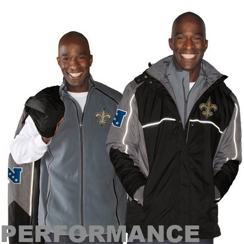 NFL New Orleans Saints Men's Frozen Tundra Systems Jacket, Black, XX-Large at Amazon.com