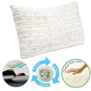 Clara Clark Rayon made from Bamboo Shredded Memory Foam Pillow, Queen Size