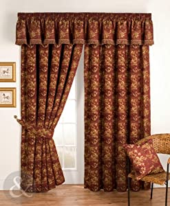red curtains 90 x 90 luxury pencil pleat lined curtain red gold