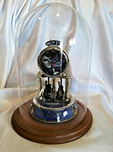 Elvis Presley Porcelain Base Glass Dome Anniversary Clock (Signature Product)