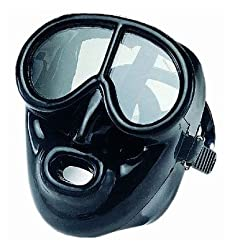 Full Face Black Silicone Dive Mask - Scuba Mask