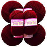 Vardhman Acrylic Knitting Wool, Pack Of 6 (Mehroon) (Pack Of 10)