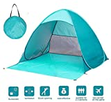 【UVカットコーティング採用】サンシェードテント 2-3人用テント SPF50+日除け ワンタッチで簡単 海水浴・砂浜・ビーチ・プールに最適 キャリーバッグ付き日よけテント簡易 フィールドアー アウトドア キャンプ用品 紫外線防止 登山 折りたたみ