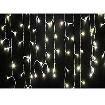 96 leds light string sleet icicles string fairy lights for Guirlande noel exterieur
