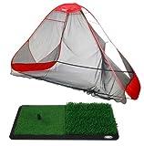 ProActive Sports ProAdvanced ProReturn Golf Net and Dual-Level Grass Hitting Mat