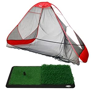 Buy ProActive Sports ProAdvanced ProReturn Golf Net and Dual-Level Grass Hitting Mat by Pro Active