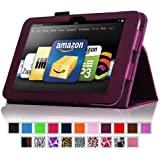 """Fintie Kindle Fire HD 8.9"""" Slim Fit Leather Case with Auto Sleep/Wake for Amazon Kindle Fire HD 8.9 (will not fit HDX models) - Purple"""