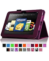 "Fintie Kindle Fire HD 8.9"" Slim Fit Leather Case with Auto Sleep/Wake for Amazon Kindle Fire HD 8.9 (will not fit HDX models) - Purple"