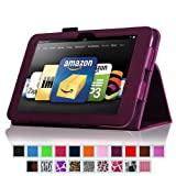 "Fintie Kindle Fire HD 8.9"" Slim Fit Leather Case with Auto Sleep/Wake for Amazon Kindle Fire HD 8.9 - Purple (will not fit HDX models)"