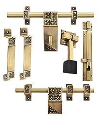 Klaxon Glorious 4 Brass Door Accessories Kit (Antique Finish)