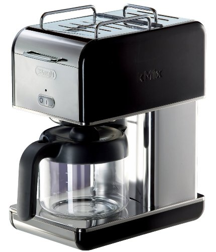 Delonghi 10 Cup Kmix Drip Coffee Maker, Features Thermo Gen Heating System With Opti Temp To Maintain Perfect Heat, Includes One Touch Control And Anti Drip Function, Black - Stainless Steel Finish