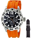 Nautica Men's NAI14500G BFD 100 Box Set Analog Display Analog Quartz Orange Watch