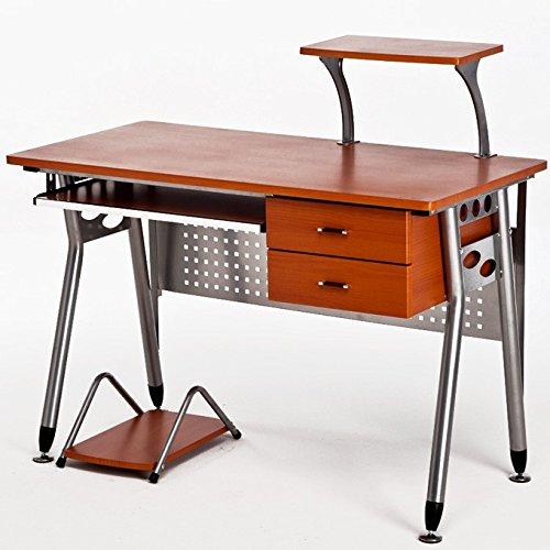Tavolo Porta Computer Cassettiera Scrivania ufficio da finitura ciliegio