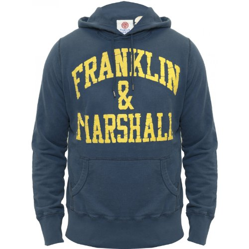 Franklin & Marshall Mens Hoody Genuine Original Franklin and Marshall FLMC02513 Navy Medium