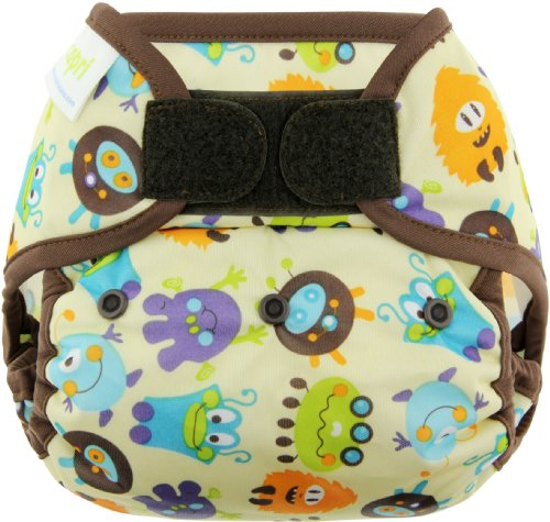 Blueberry Coveralls Hook And Loop Diaper Cover, Monsters