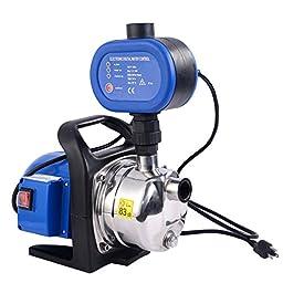 Goplus® 1200W Stainless Shallow Well Water Booster Pump Home Garden Irrigation 925GPH