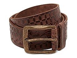 Breakbounce Men's Leather Belt (8907066079495_Large_Brown)