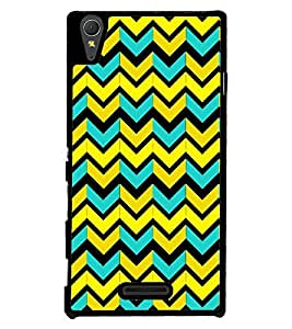 Printvisa Multicolour Zigzag Pattern Back Case Cover for Sony Xperia M2 Dual D2302::Sony Xperia M2