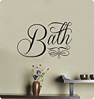 "24"" Bath with Embellishment Luxury Wall Decal Sticker Art Mural Home Décor Quote Lettering Bathroom Sink Tub Shower by Wall Pressions"