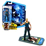 Mattel Year 2009 James Cameron's AVATAR Highly Articulated Detailed Movie Replica 4 Inch Tall Action Figure - COL. MILES QUARITCH with Pistol and Level 1 Webcam i-Tag (R2297)