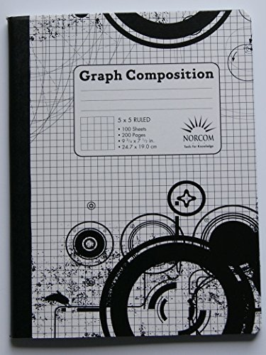 Black and White Patterned Graph Composition Notebook (Norcom Inc Notebook compare prices)