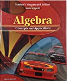 img - for Algebra, Concepts and Applications, Teacher's Wraparound Edition, Glencoe Mathematics book / textbook / text book