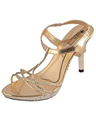 Delco Stone Studded High Heel Sandals for Women
