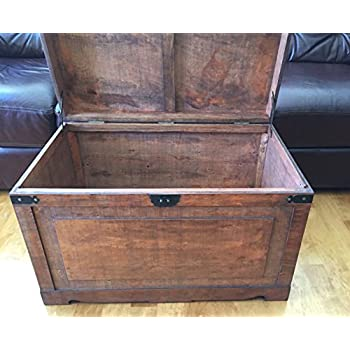 Newport Large Wood Storage Trunk Wooden Treasure Chest - Walnut