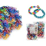 Chromo Inc® Starburst Loom Band 2400 Pack. 2,400 Xtra Strength Latex Free Loom Bands and 100+ S-Clips