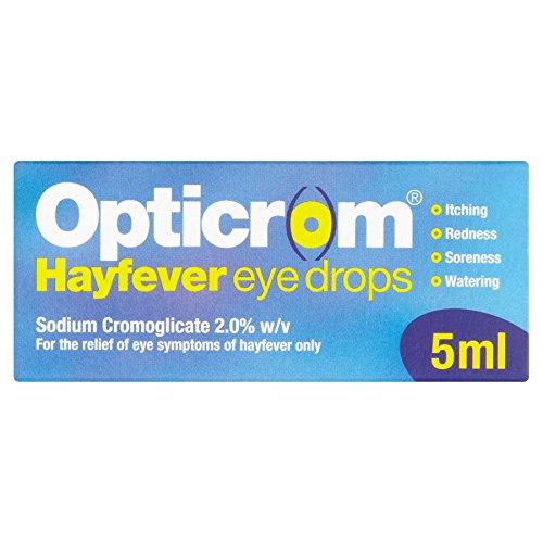 6 x opticrom hayfevereye Gouttes 5 ml