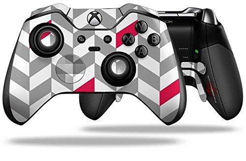 chevrons-gray-and-raspberry-decal-style-skin-fits-microsoft-xbox-one-elite-wireless-controller-by-wr