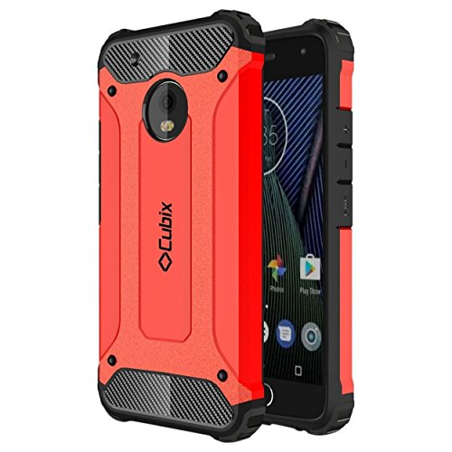 Moto G5 Case Cubix Rugged Armor Case For Motorola Moto G5 (Red)