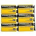 DURACELL PROCELL エフェクター角電池/006P(9V) プロ仕様楽器用アルカリ デュラセル/プロセル6個パック